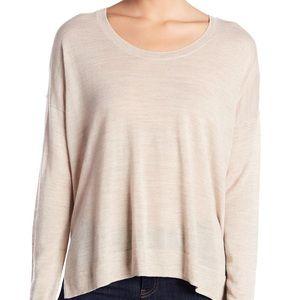 Madewell Sweater Marled Dune Merino Wool Pullover